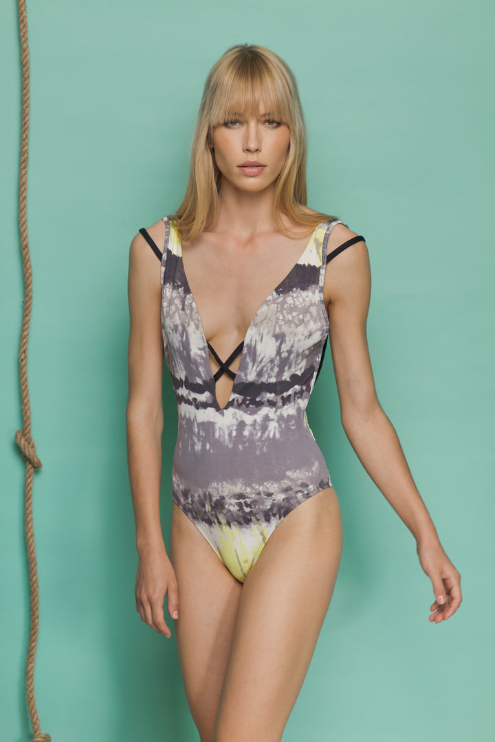 Alheta Swimsuit - Grey Pattern