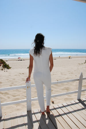 White cotton Jumpsuit