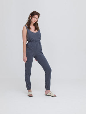 Jump for Joy - Grey Jumpsuit