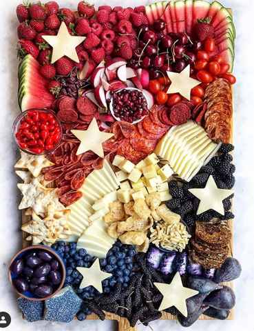 red white and blue charcuterie board