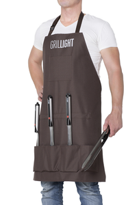 Premium 5pc Gift Set + Magnetic Apron, grill light, grillight, bbq tools, grill tools
