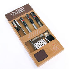 Load image into Gallery viewer, Premium 5pc Gift Set + Magnetic Apron, grill light, grillight, bbq tools, grill tools