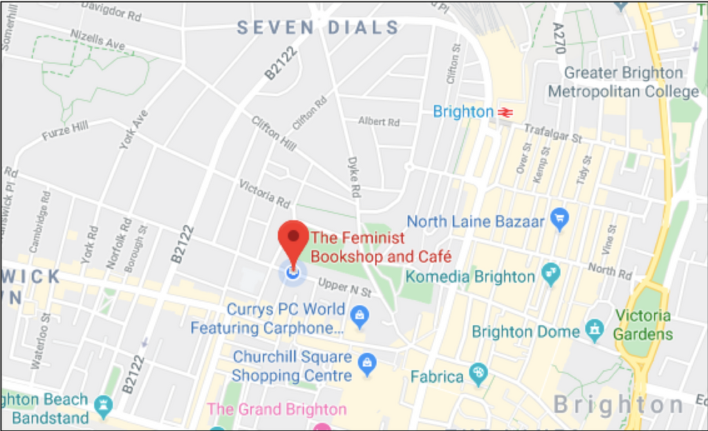 Map of The Feminist Bookshop Location