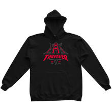 Load image into Gallery viewer, Golden Gate Black Hoodie
