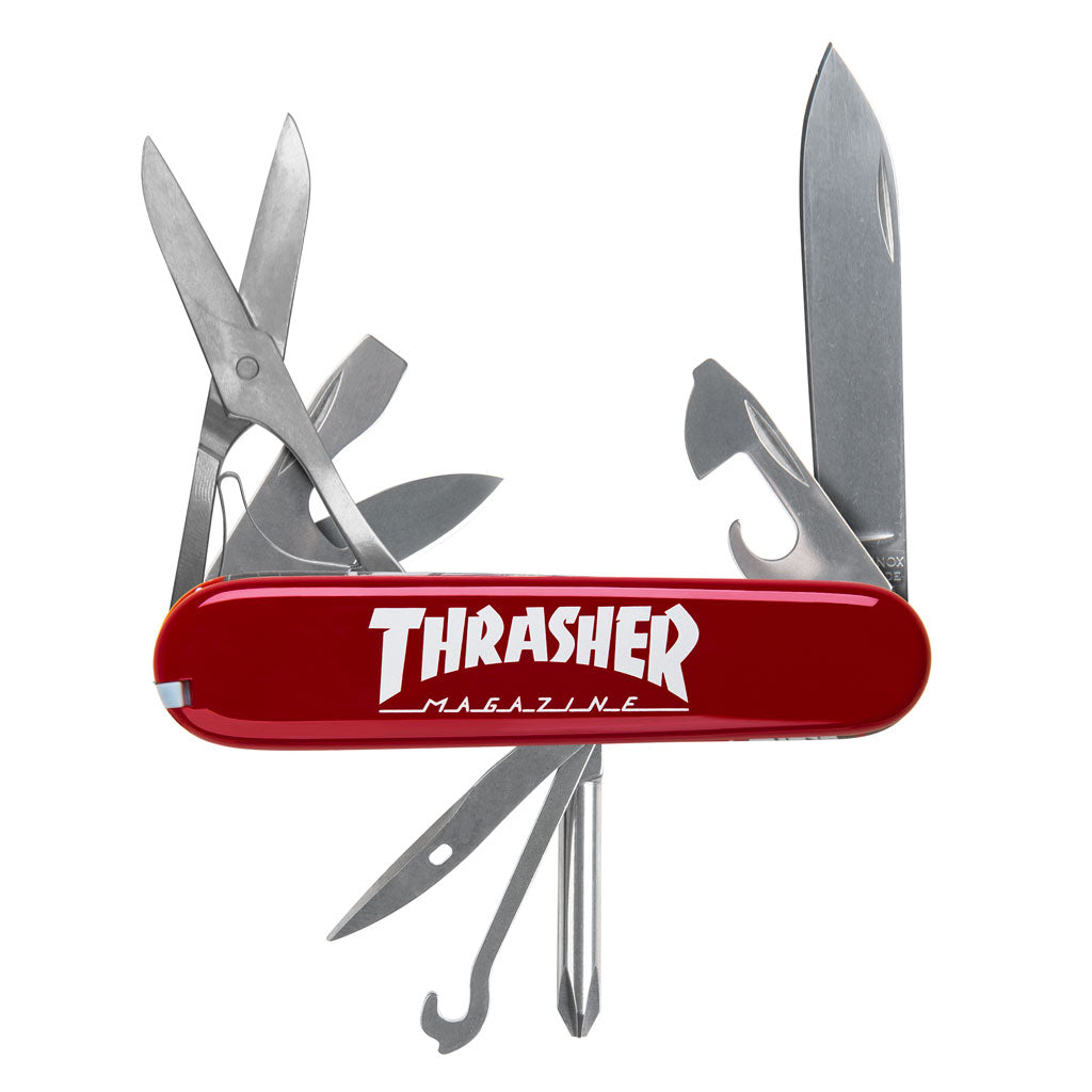 Outlined Logo Red Swiss Army Knife