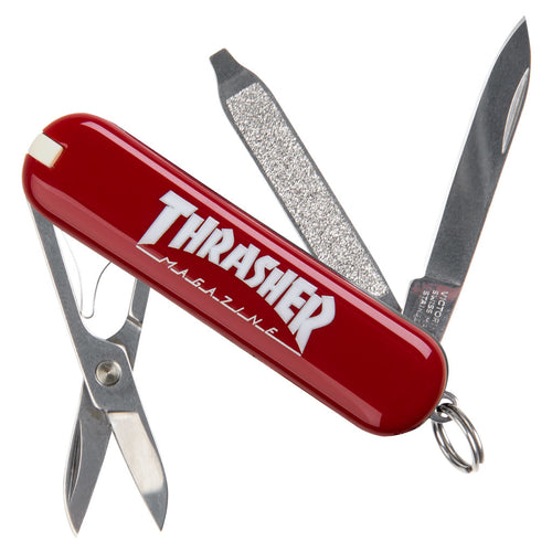 Outlined Logo Red Classic Swiss Army Knife