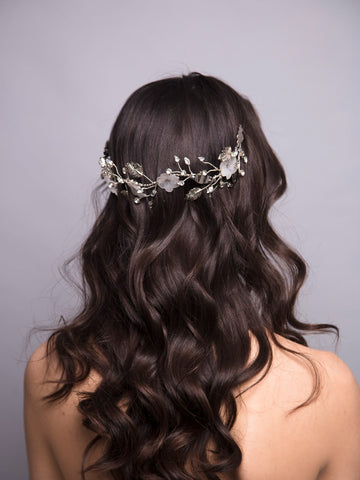 An Ode To Daisies 8 Wedding Silver Headpiece With Swarovski And Brass