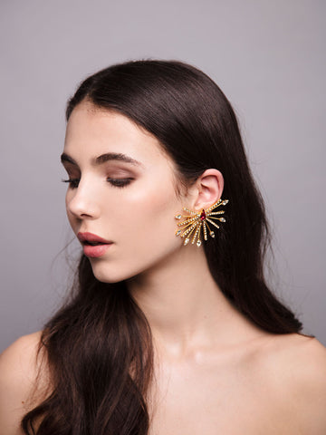Aurea Rays | 9 | Gold or Silver Ear Cuff