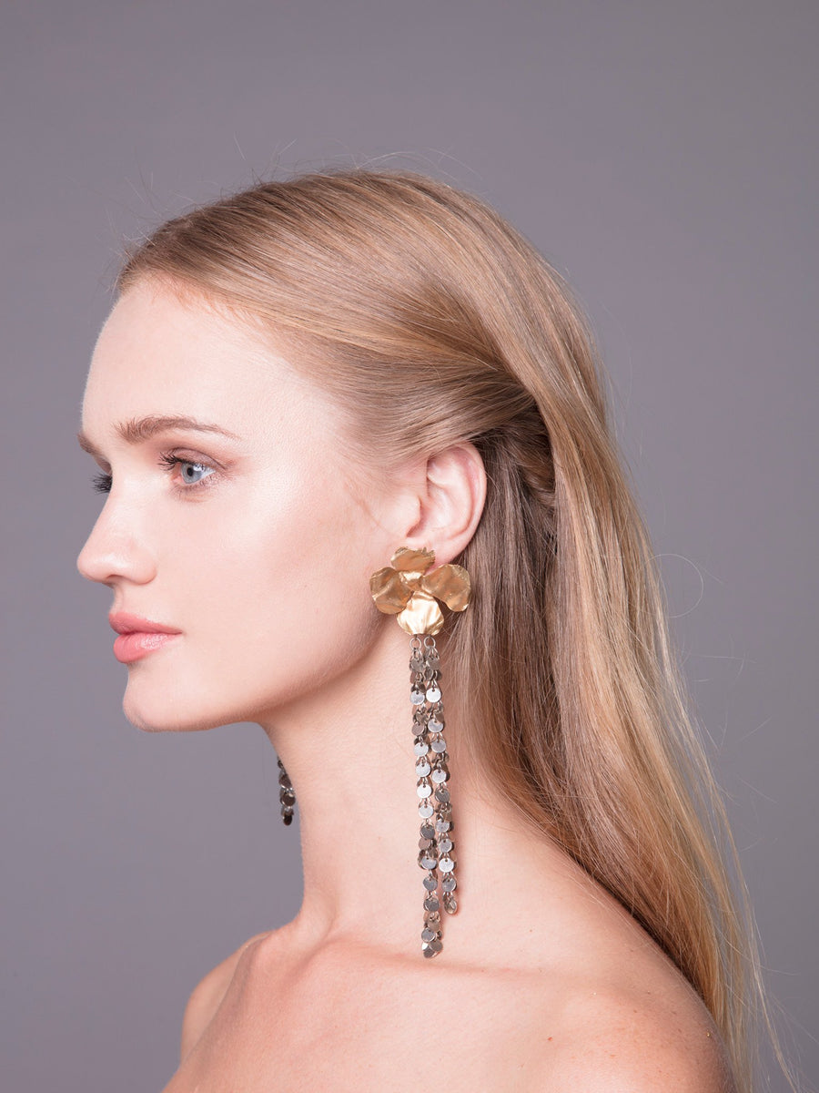 Flora Arabica 7 Wedding Bronze Earrings With Brass