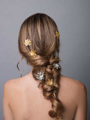 Flora Arabica | 1 | Gold or Silver Hair Clip