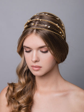 Romance In The Rain | 16 | Gold Headpiece