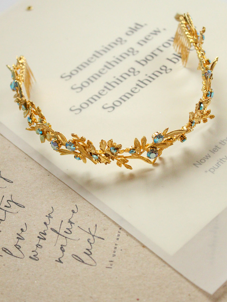 Something Blue | 1 | Gold Headpiece