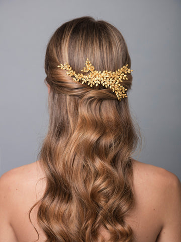 Thyme 4 Gold Wedding Headpiece With Brass