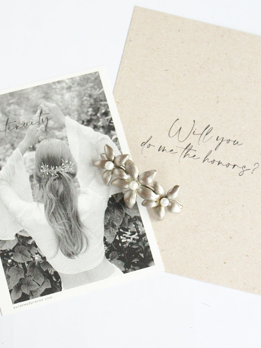 Will You Be My Bridesmaid? | 1 | Silver Barrette
