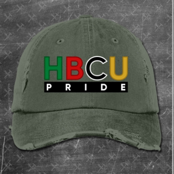 HBCU Pride Distressed Hat (Heather Green)
