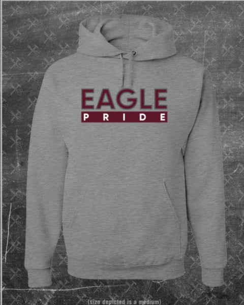 """Eagle Pride"" Hoodie in Heather Grey/Maroon #HBCUPride (NC)"