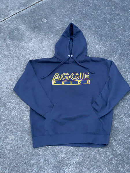 "The ""Aggie Pride"" Hoodie in Navy Blue/Gold #HBCUPride (NC) #instock"