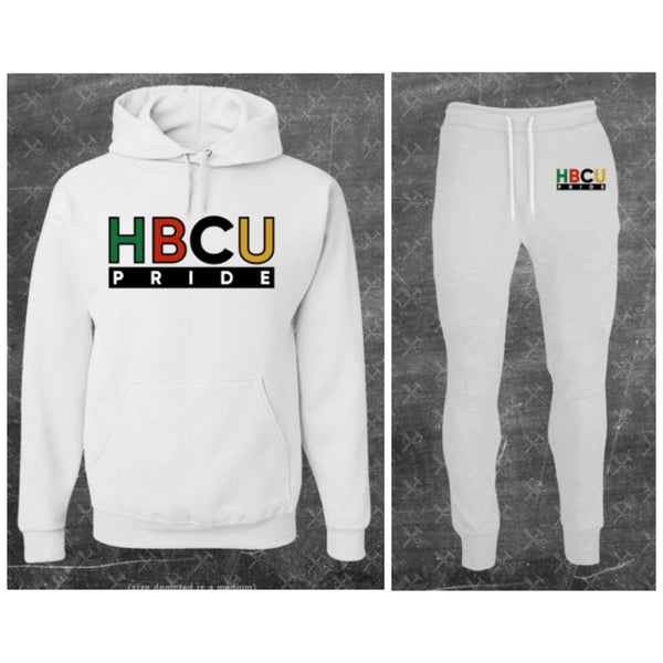 "Unisex HBCU Pride Sweatsuit in White ""Pure"" (Embroidered) #Sweatsuit"