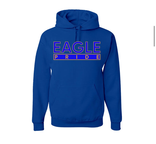 "The ""Eagle Pride"" Hoodie in Royal Blue/Gold #HBCUPride (MD)"