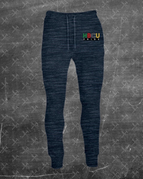 "Women's French Terry HBCU Pride Joggers in Marled Ash ""Faded"" (Embroidered)"
