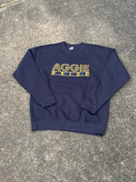 "The ""Aggie Pride"" Crewneck in Navy Blue/Gold #HBCUPride (NC) #instock"