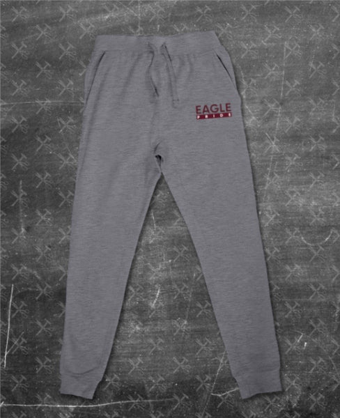 """Eagle Pride"" Joggers in Heather Grey/Maroon #ThePrideOfHBCUs (Embroidered)"