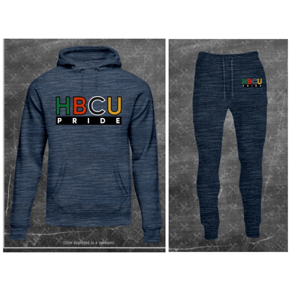 "Women's French Terry HBCU Pride Sweatsuit in Marled Ash ""Faded"" (EMBROIDERED)"