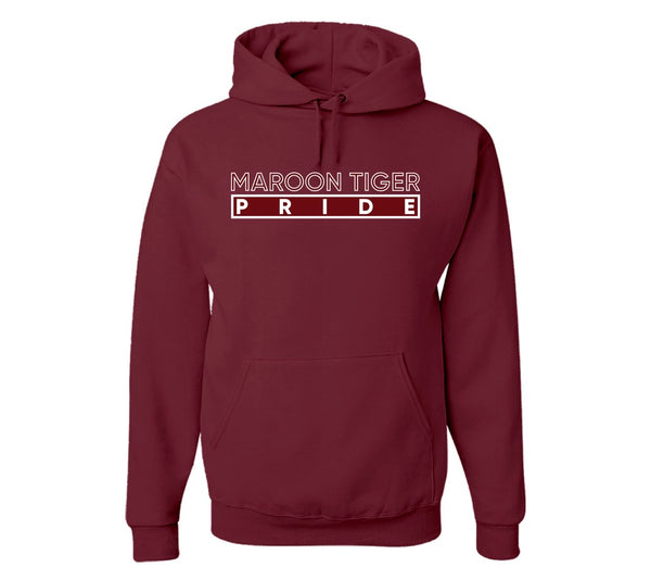 "The ""Maroon Tiger"" Hoodie in Maroon/White #HBCUPride (GA)"