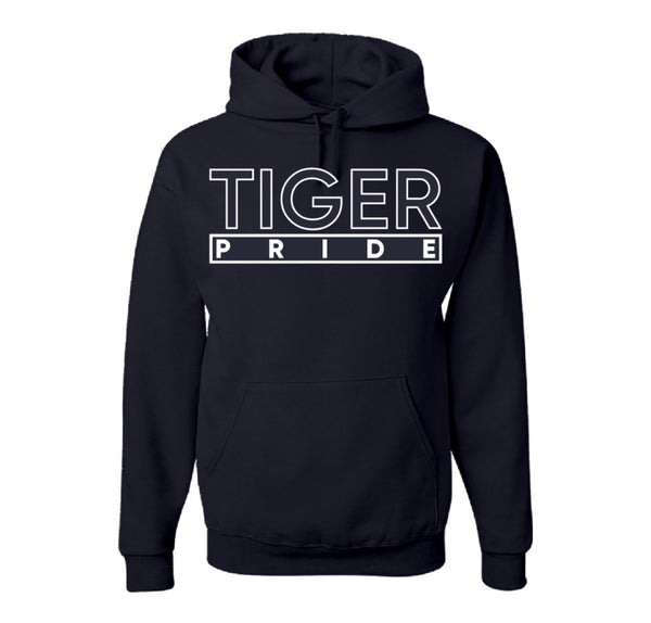 "The ""Tiger Pride"" Hoodie in Navy Blue/White #HBCUPride (MS)"