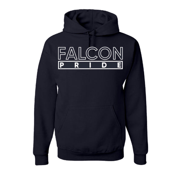 "The ""Falcon Pride"" Hoodie in Navy Blue/White #HBCUPride (NC)"