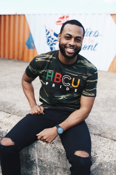 "The ""Major Payne"" HBCU Pride Banner Tee in Camo"