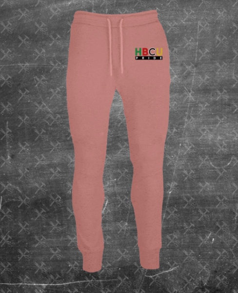 "Women's French Terry HBCU Pride Joggers in Peach ""Dusty Rose"" (Embroidered)"