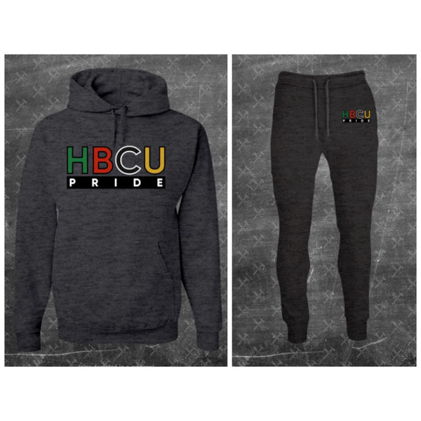 "Unisex HBCU Pride Sweatsuit in Charcoal Gray ""Da Tailgate"" (Embroidered) #Sweatsuit"