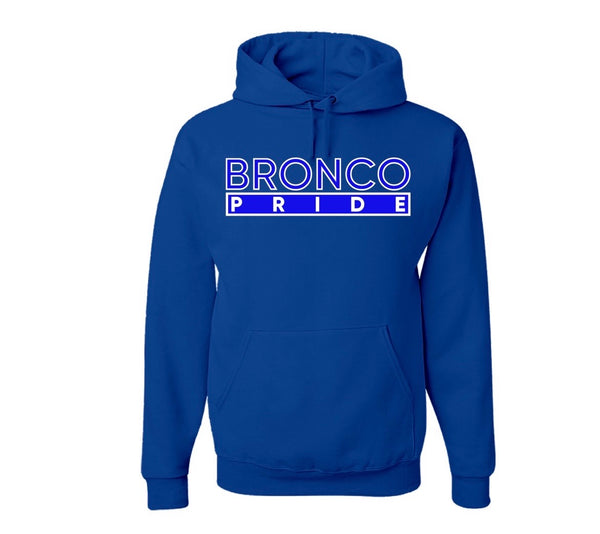 "The ""Bronco Pride"" Hoodie in Royal Blue/White #HBCUPride (NC)"