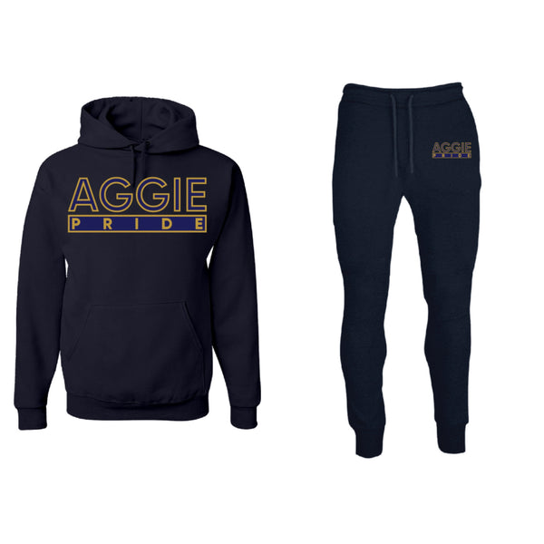 "The ""Aggie Pride"" Sweatsuit (Navy) #HBCUPride (NC)"