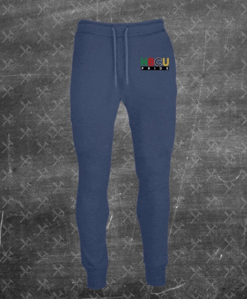 "Women's French Terry HBCU Pride Joggers in Shale Blue ""Spring Break"" (Embroidered)"