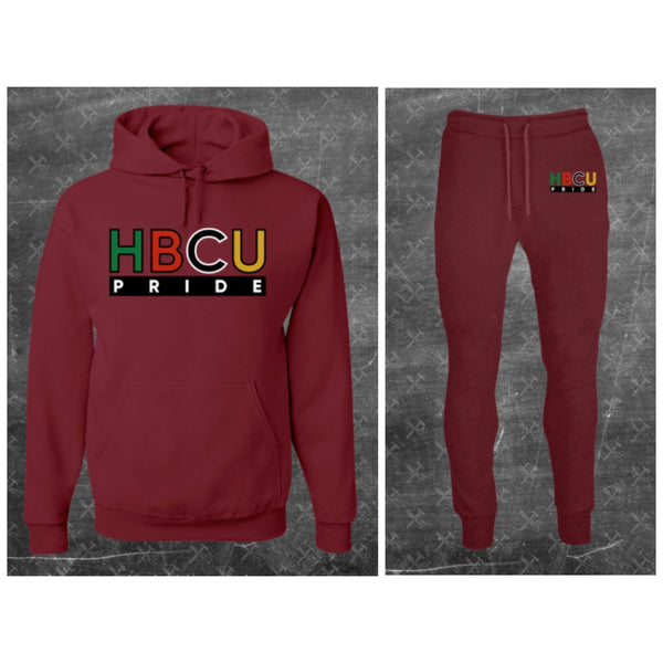 "Unisex HBCU Pride Sweatsuit in Maroon ""BOLD"" (Embroidered) #Sweatsuit"