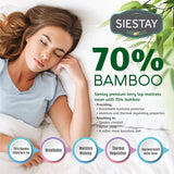 Siestay Waterproof Bamboo Mattress Cover Quiet, Comfortable, Vinyl Free