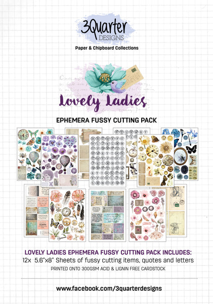 Ephemera Fussy Cutting Pack - Lovely Ladies