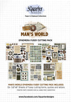 Ephemera Fussy Cutting Pack - Man's World