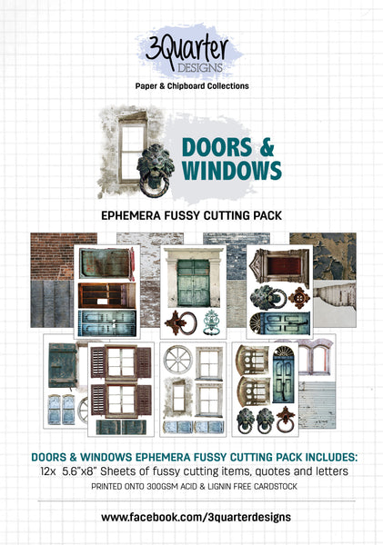 Ephemera Fussy Cutting Pack - Doors and Windows