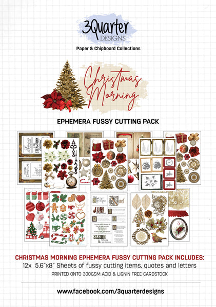 Ephemera Fussy Cutting Pack - Christmas Morning
