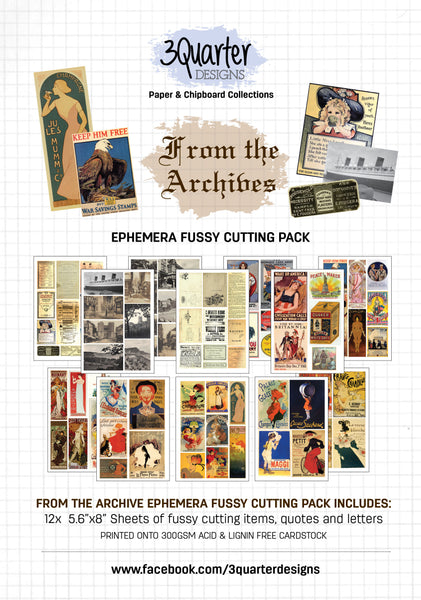 Ephemera Fussy Cutting Pack - From the Archives - RELEASED April 1st