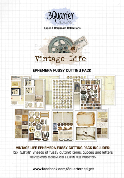Ephemera Fussy Cutting Pack - Vintage Life