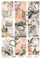 Tag Sheet Feminine Steampunk