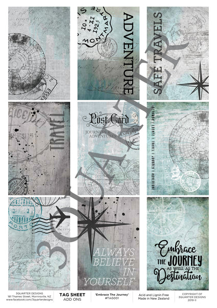 Tag Sheet Embrace The Journey