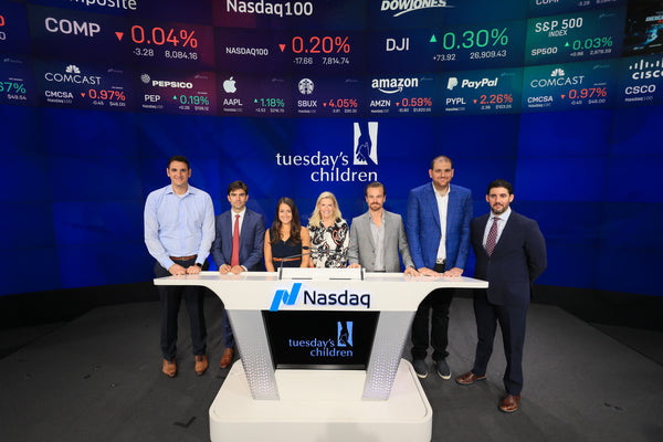 Tall Order attends Tuesday's Children NASDAQ Opening Bell Ceremony 9.11.2019