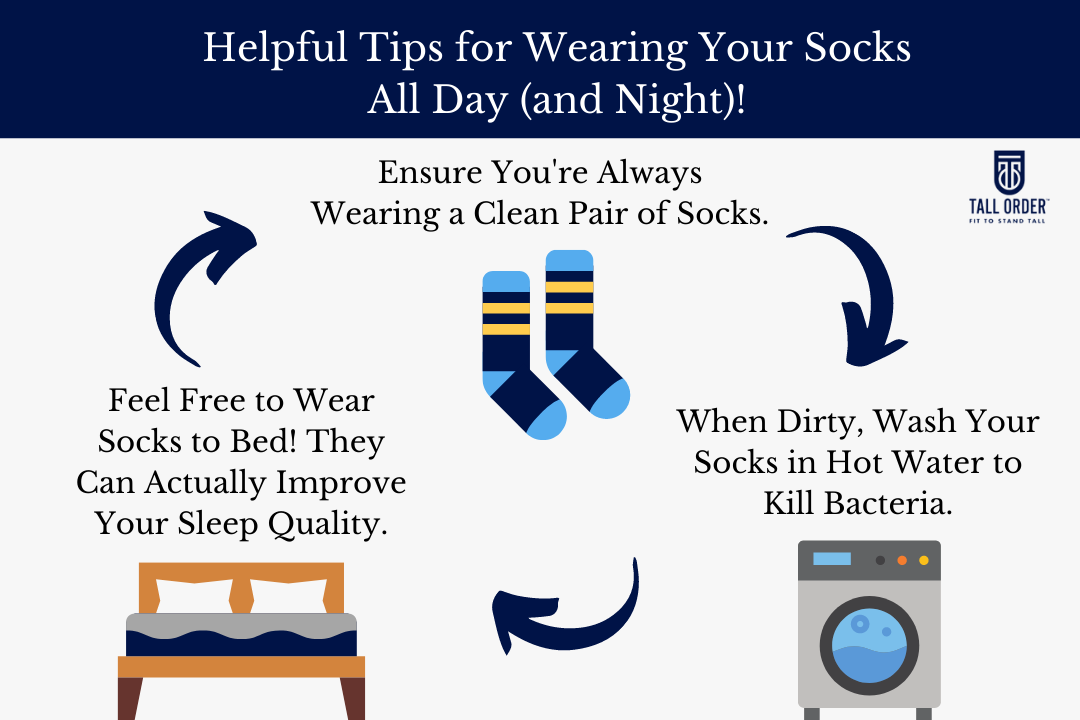 Tips for wearing socks all the time