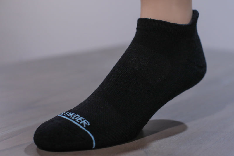 Solid Black Two Pack - Extra Cushioned Ankle Socks