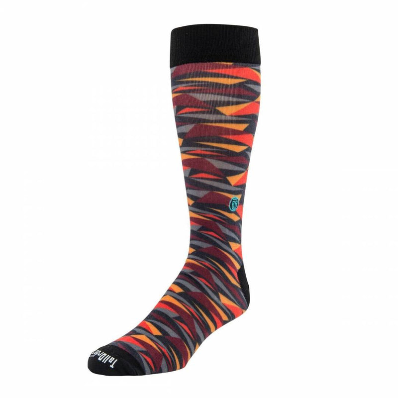 The Marty, Big & Tall Men's Red/Orange Abstract Dress Socks